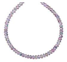 Mystic Quartz Necklace Faceted Natural 18 19 Inch 14k Gold Filled Solid Strand