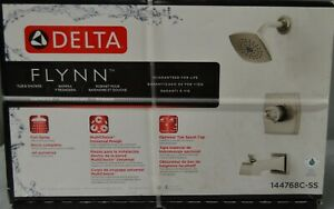 Delta 144768C-SS Flynn 1 Handle Tub & Shower Faucet Set NEW AND SEALED