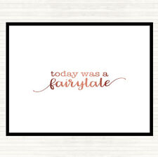 Rose Gold Today Fairytail Quote Mouse Mat Pad