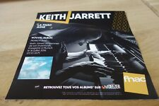 KEITH JARRET - MUNICH 2016 !!!!! PLV 30 X 30 !!FRENCH RECORD STORE PROMO ADVERT