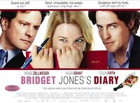 Bridget Jones' s Diary movie poster (b) Renee Zellweger, Colin Firth, Hugh Grant