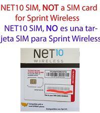 NET10 SIM card for Sprint Samsung Galaxy S5 S6 S7 Edge S8 S8+ Plus Note