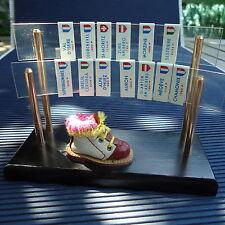 Stations Réputées France Italie  Suisse Plexi Socle  Bois Miniature13,5 x10x5 Cm
