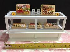 Miniature Dollhouse Shop Bakery White Wood Display Case Cabinet 1:12 No Food