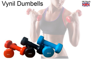 Vinyl Dumbbells Set Women Aerobic Training Weights Strength Training Home Gym