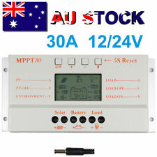 30A PWM Solar Charge Controller Panel Battery Regulator 12V/24V Auto LCD USB
