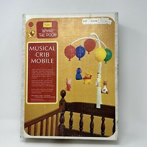 Vintage Winnie the Pooh Sears Musical Spinning Crib Mobile Crib