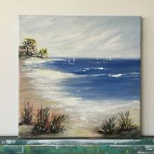 Seascape Original Painting abstract art on canvas Impressionism Beach Sea Ocean