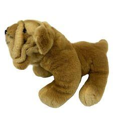 "Shar Pei Stuffed Animal Plush Dog Wrinkled Sharpei Pup 10"" Brown"
