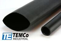 "TEMCo 2"" Marine Heat Shrink Tube 3:1 Adhesive Glue Lined 4 ft BLACK"