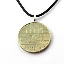 Collier pièce de monnaie Pays-Bas 2,5 florins Béatrix