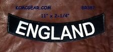 Inglaterra Blanco sobre negro inferior Eje De Balancín PARCHES PARA Chaleco