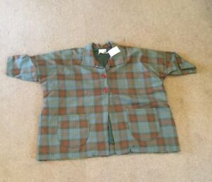 """Overly Gorgeous Green Checkered Plus Size Jacket - Chest Size 70"""" - New with Tag"""