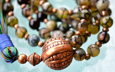 Dragon Vein Agate Prayer Beads Handmade Mala Beads Nirvana Necklace -For Healing