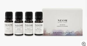 NEOM   Wellbeing Essential Oil Blends Collection x4 10ml 40ml Gift Set NEW BOXED