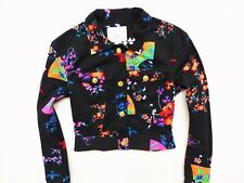 WOMEN'S BLACK VERSACE FOR H&M BOMBER JACKET SIZE: EU 34 (SMALL)
