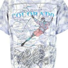Ski Colorado T Shirt Vintage 90s All Over Print Winter Resorts Made In USA XL