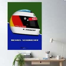 New listing Michael Schumacher 1991 F1 Helmet Print - Scuderia GP