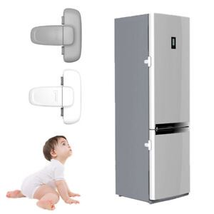 Home Refrigerator Fridge Freezer Door Catch Toddler Kids Child Cabinet Locks