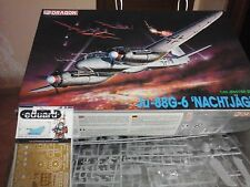 JUNKERS JU88 G-6 NACHTJAGER 1/48 SCALE DRAGON MODEL+PHOTOETCHED PARTS LIMITED ED