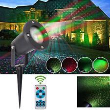 LED Laser Projektor Lampe Lichteffekt Strahler Weihnachten mit RF Fernbedienung