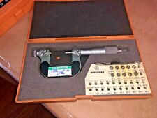 Mitutoyo Screw Thread Micrometer No 126 125 0 26mm 001mm 10 Anvils