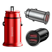 Dual USB Port 30W Fast Charging Car Charger w/Qualcomm Quick Charger QC 3.0 AFC
