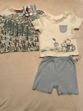 Baby Boys 6-9 Months Shorts And Top T Shirt  Outfit Wheres Wally Bundle