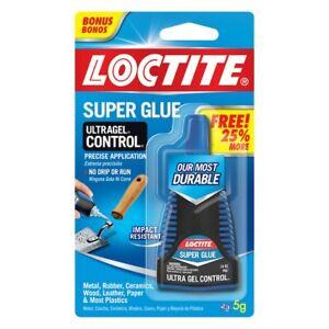 BIGGER BOTTLE Henkel Loctite 1801751 Super Glue Ultra Gel Control 5gm 25% MORE