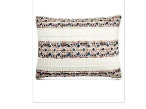 $70.00 Martha Stewart Collection Pleats & Thank You Quilted Standard Sham