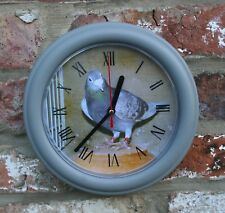 RED CHEQUER RACING PIGEON CLOCK