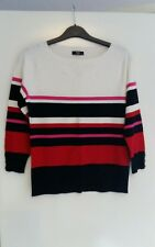 NEW M&CO striped white/red autumn office party summer jumper size 10