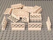 LEGO X25 Pieces New Bulk White Fence Lattice Style Lot 1x4x2 (part #3185)
