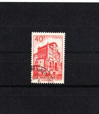 MONACO  vue de la principauté   40f  rouge  de 1948/49   num:  313B  oblitéré