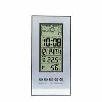Thermometer Digital Clock Hygrometer Indoor Outdoor Temperature Humidity Meter