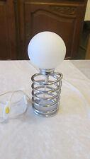 Lampe ressort Vintage design Ingo Maurer métal chromé opaline idéal déco loft
