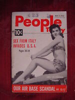 PEOPLE TODAY magazine May 7 1952 GINA LOLLOBRIGIDA