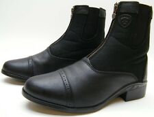 WOMENS ARIAT 14120 SPORT ZIP HERITAGE PADDOCK BLK LEATHER RIDING BOOTS 9.5~1/2 B