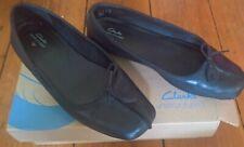Clarks Freckle Ice Leder Ballerina *unstructured* Schuhe 40 schwarz Mokassin