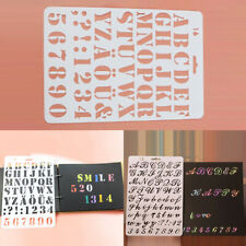 Fashion Letter Alphabet Number Card Masking Spray Stencils Painting Scrapbooking