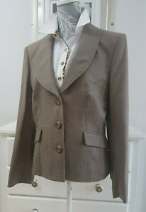 Alex and co 98%virgin wool blazer size 14 soft chocolate brown tailored classic