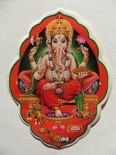 KAMADHENU SACRED COW 8.7cm x 12.9cm D-97 Window Hindu Sticker Double Sided