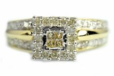 Engagement Diamond .25 ct Fancy Yellow & J/I1 GIA Spec Ring in 10k Solid Gold