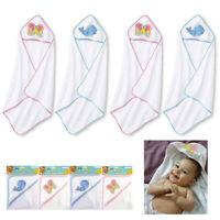 4 Pc Hooded Baby Towel Bath Blanket Infant Wrap Bathrobe Animal Butterfly Whale