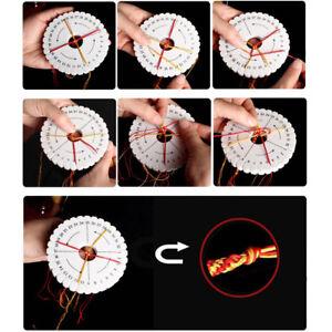 handmade knitting disc round square bracelet braided knot rope tray eva diy^lk