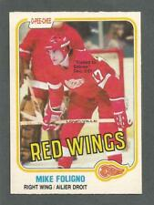 1981-82 OPC O-Pee-Chee Hockey Mike Foligno #87 Detroit Red Wings Sabres NM/MT