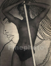 1930's Vintage CEYLON Sri Lanka EXOTIC SEMI NUDE MALE Photo Art By LIONEL WENDT
