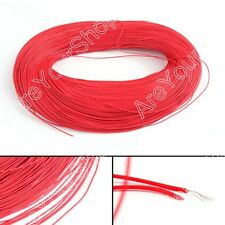 10M Red Flexible Stranded UL1007 30AWG Electronic Wire PVC Cable 300V ROHs B5