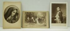 Cabinet Photo Card Lot of 3 Pictures Herrscherhaus Nepoleon Our Lady of Sorrow