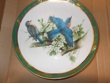 """Danbury Mint The Songbirds of Roger Tory Peterson """"Bluebirds"""" Collector Plate"""